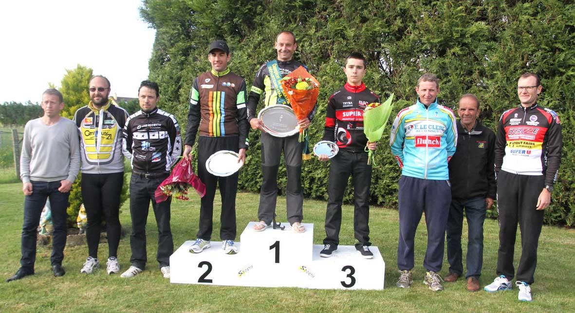 Podium Chpt Sarthe Pass'cyclisme D2 11 05 2014